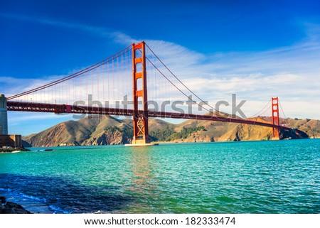 Golden Gate, San Francisco, California, USA. - stock photo