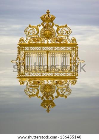 Golden gate Versailles France - stock photo