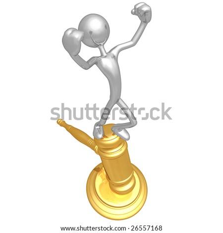 Golden Gavel - stock photo