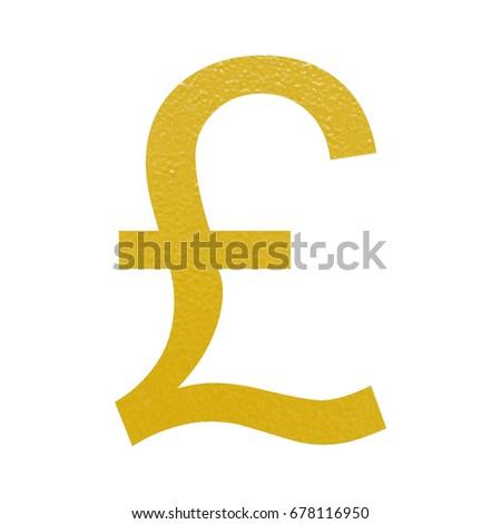 Golden Gbp British Pound Currency Symbol Stock Illustration