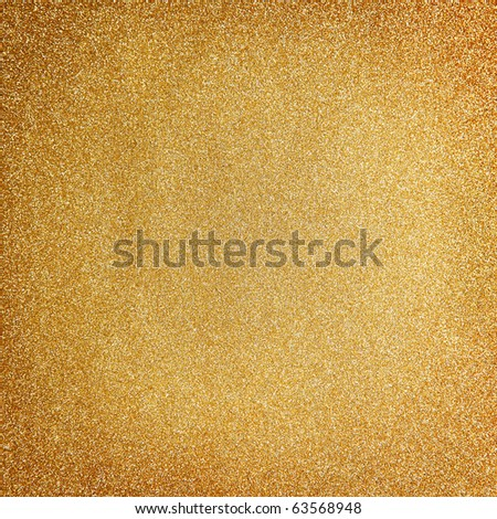 Golden glitter christmas background - stock photo