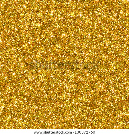 Golden glitter for texture or background - stock photo