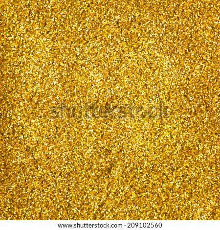 golden glitter makeup powder texture - stock photo