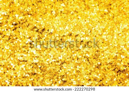 golden glitter sparkle background - stock photo