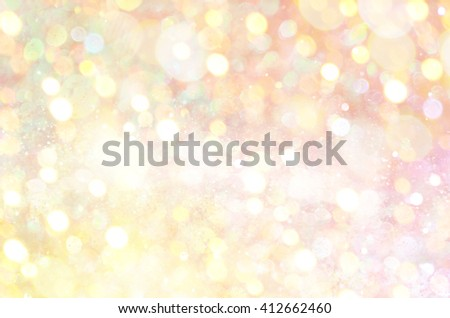 Golden glow glitter background. Elegant abstract background with bokeh  - stock photo