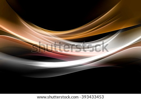 golden glowing wave background