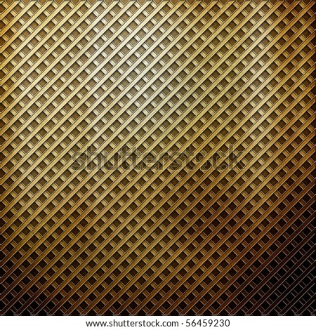 golden grid metal (huge collection) - stock photo
