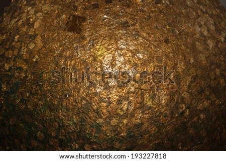 Golden grunge dark background, - stock photo