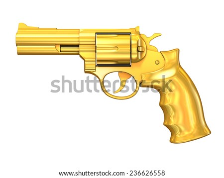 golden gun - stock photo