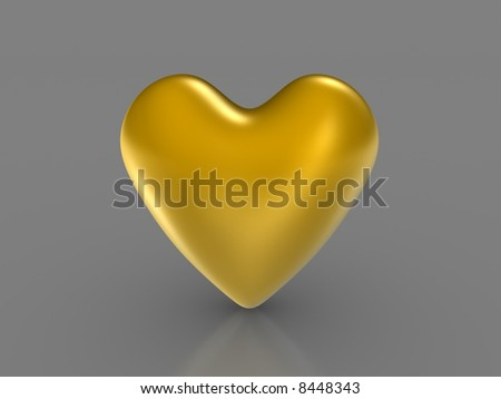 Golden Heart - stock photo