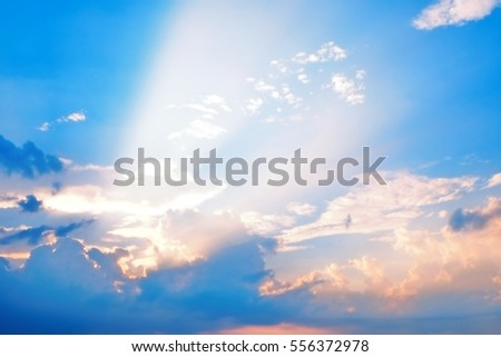 Golden heaven light Hope concept abstract blurred background from nature