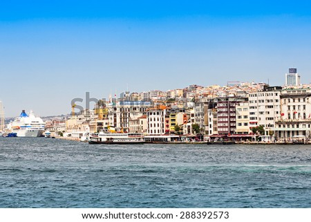 Golden Horn and Bosphorus in Istanbul, Turkey