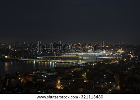 golden horn from carsamba disctrict - stock photo