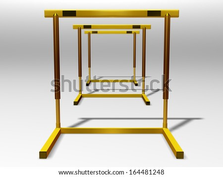 golden Hurdle, perspective view  - stock photo