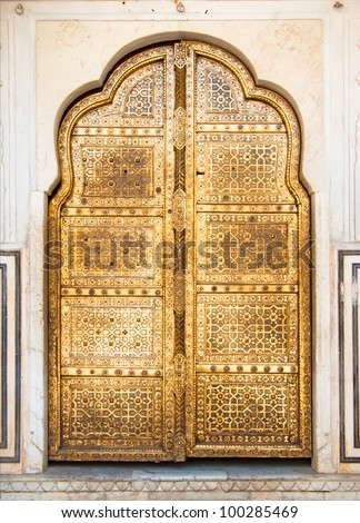 golden indian door