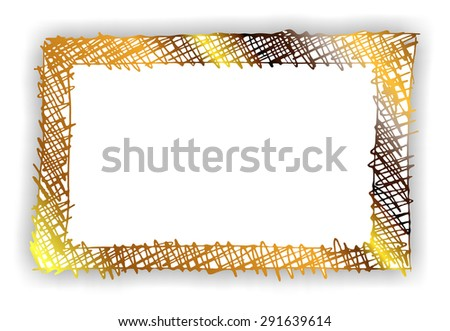 golden isolated frame - stock photo