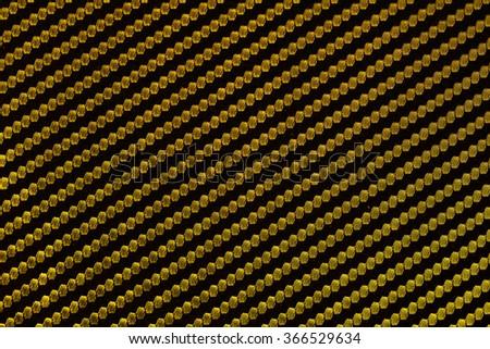 Golden kevlar background - stock photo