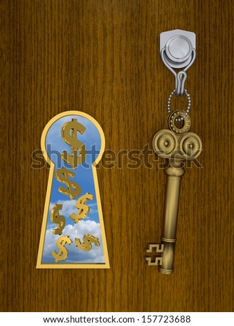 Golden Key to Open Your Success - stock photo