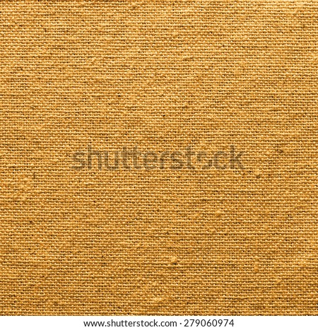 golden linen texture for the background - stock photo