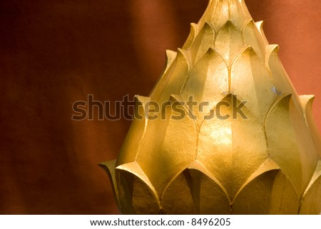 golden lotus flower - stock photo