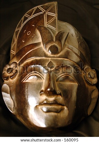 Golden Mask Series: frontal view full face