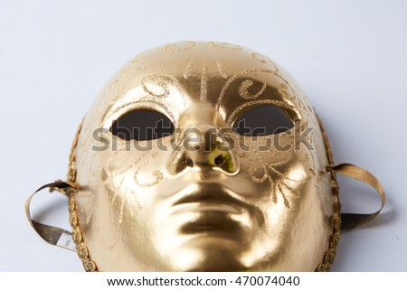 Golden Masquerade mask