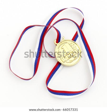 Golden medal - stock photo