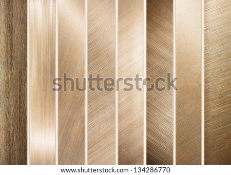 golden metal banners - stock photo