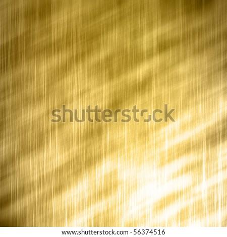 Golden metal brushed texture - stock photo