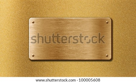 golden metal plate