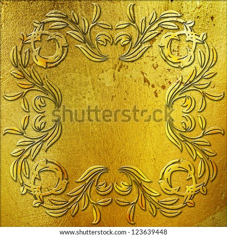 golden metal plate background
