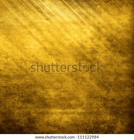 Golden metal texture - stock photo