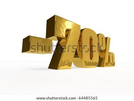 golden minus seventy percent - stock photo