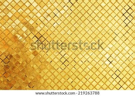 golden mosaic - stock photo