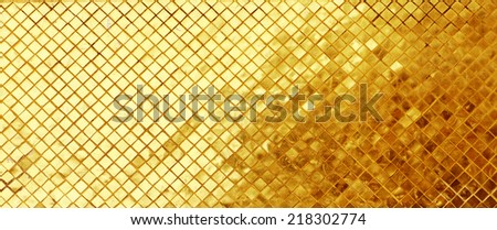 golden mosaic interior - stock photo