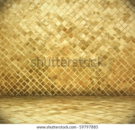 golden mosaic interior