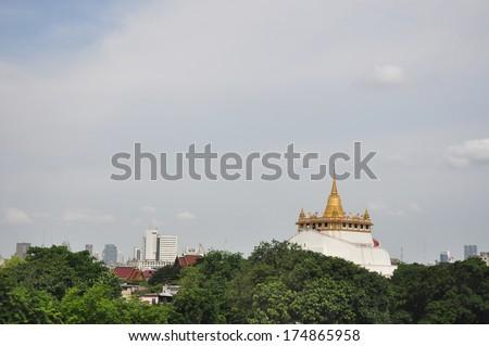 Golden mountain of thailand - stock photo