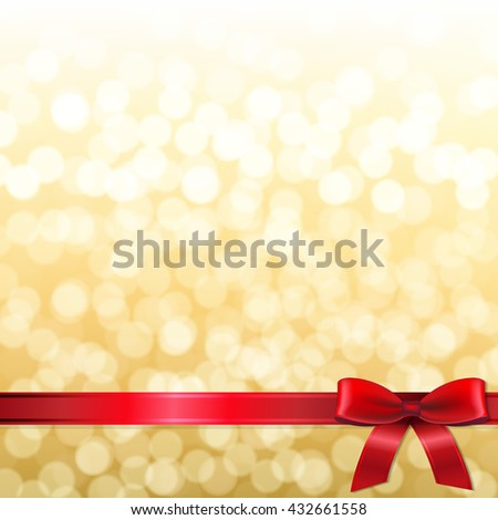 Golden New Year Card  - stock photo