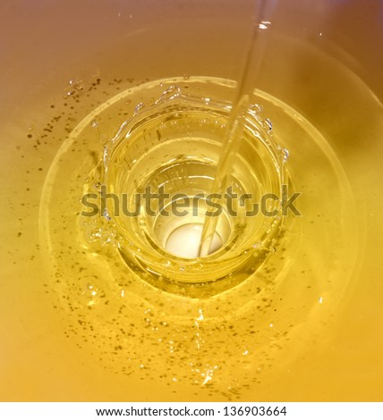 Golden Oil - stock photo