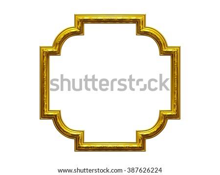golden ornamental frame - stock photo