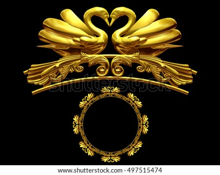 Golden Swan Stock Images Royalty Free Images Amp Vectors