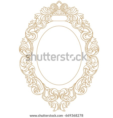 Golden Circle Frame Stock Illustration 288834062