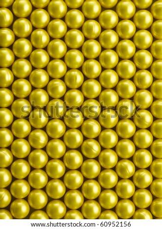 Golden Paintball Mosaic - stock photo