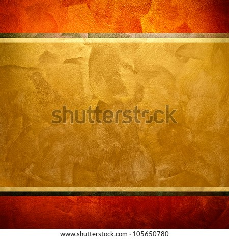 golden painting - stock photo