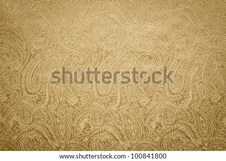 Golden paisley background/texture - stock photo