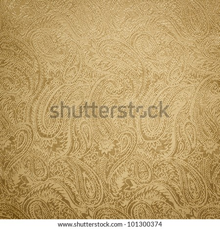 Golden paisley background/texture - stock photo