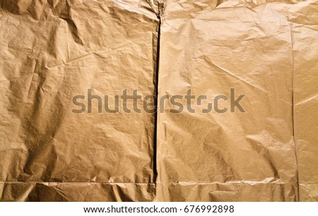 Golden paper texture background, crumpled paper texture background
