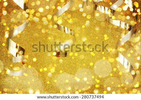 Golden Party Background - stock photo