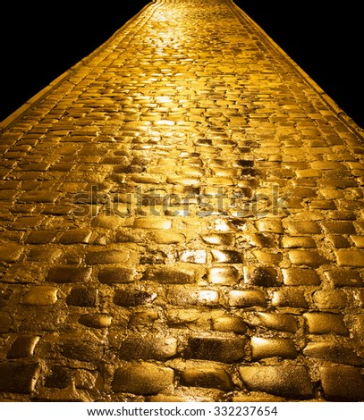 Golden path leading to success - stock photo