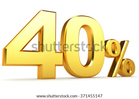 Golden percentage on a white background.